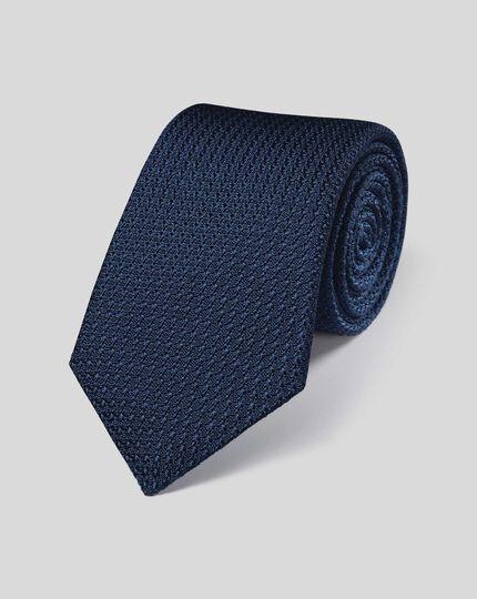 Silk Grenadine Italian Luxury Tie - Navy