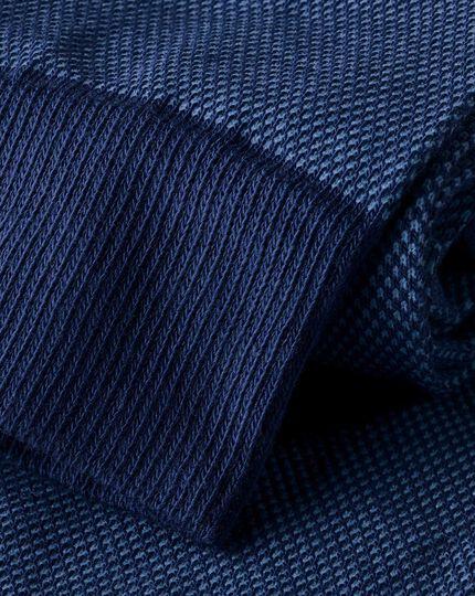 Textured Socks - Sky & Navy