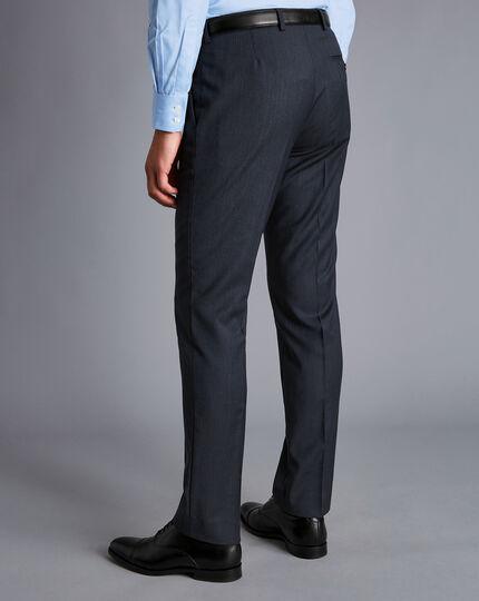 Herringbone Business Suit - Dark Airforce Blue