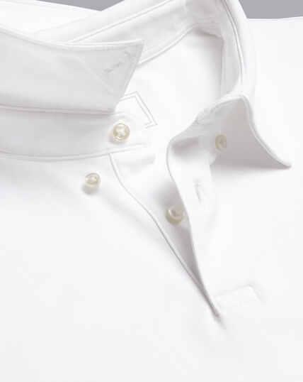 Smartes Polo aus Jersey - Weiß