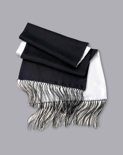 Reversible Silk Scarf - Black