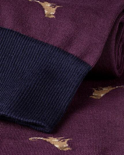 Socken mit Hunde-Motiv - Violett