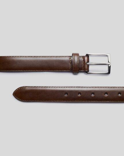 Leather Formal Belt - Chocolate