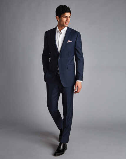 Birdseye Travel Suit - Ink Blue