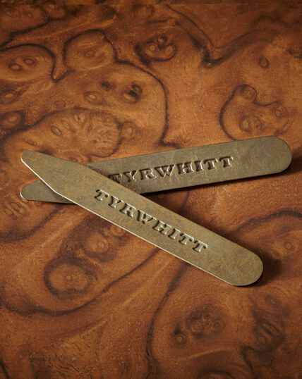3 Pack Solid Brass Classic Collar Stays