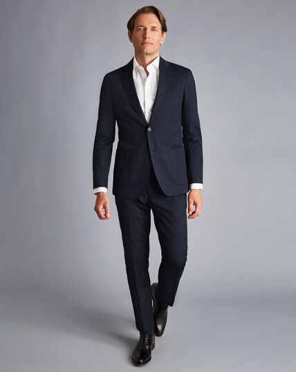 Italienischer Anzug aus Baumwolle - Marineblau