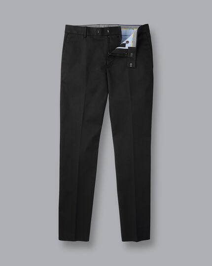 Smart Non-Iron Chinos - Black