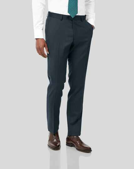 Twill Business Suit Trousers - Teal