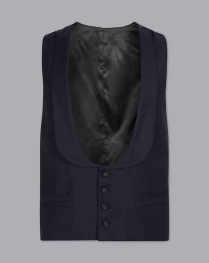 Shawl Collar Dinner Suit Waistcoat - Midnight Blue