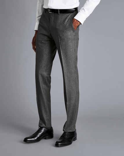 Italian Luxury Stretch Flannel Suit Pants - Grey