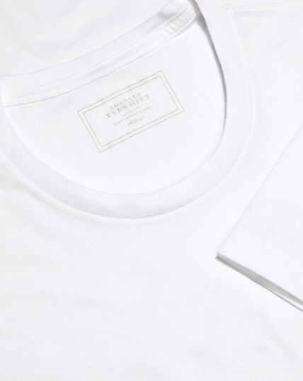 2 Pack Crew Neck Cotton T-shirt - White