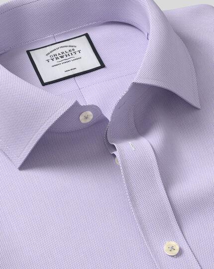 Non-Iron Micro Diamond Shirt - Lilac