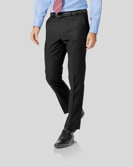 Twill Business Suit Pants - Black