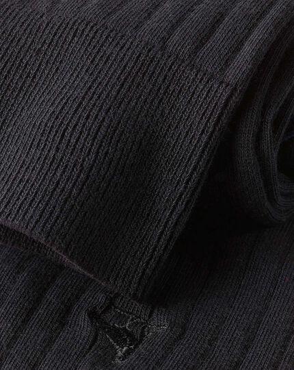 Cotton Rib Socks - Black