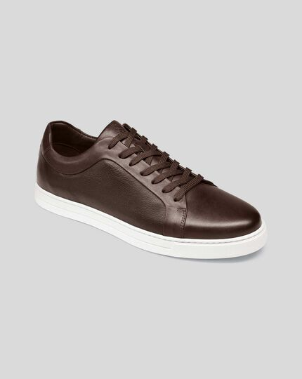 Leather Trainers - Chocolate Brown