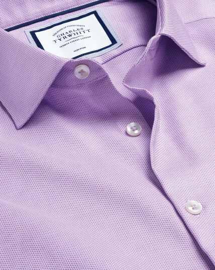 Business Casual Collar Non-Iron Stretch Texture Shirt - Lilac