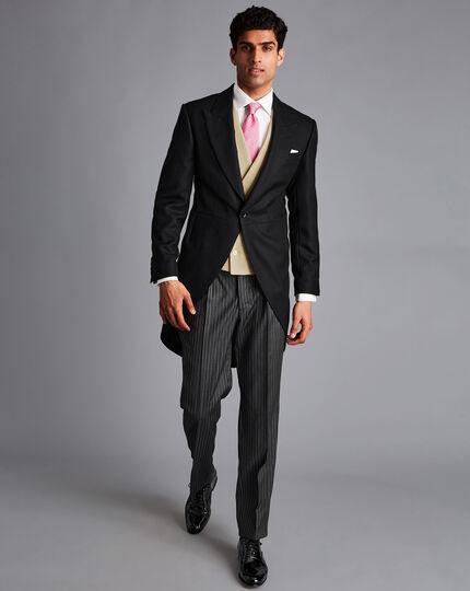 Linen Morning Suit Vest - Buff