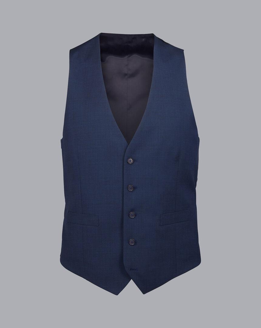 Pindot Travel Suit Vest - French Blue