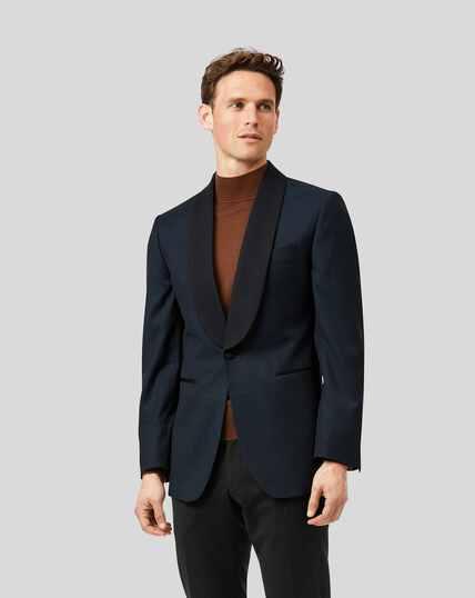 Shawl Collar Dinner Suit Jacket - Teal