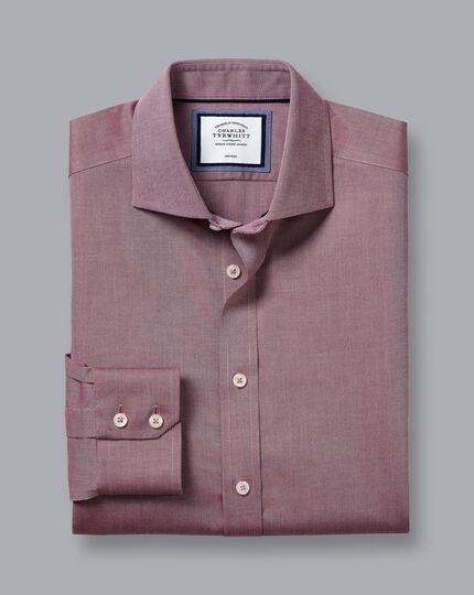 Bügelfreies Regency-Hemd mit Haifischkragen - Beerenrot