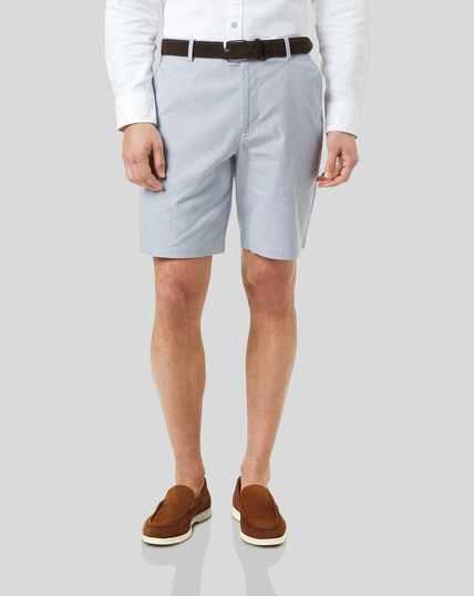 Shorts aus Baumwolle mit Streifen - Blau