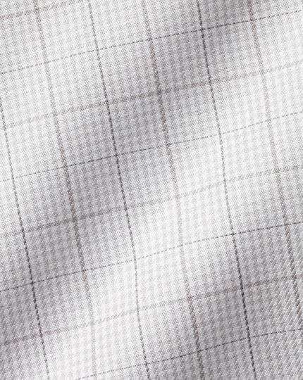 Cutaway Collar Non-Iron Twill Puppytooth Shirt - Grey