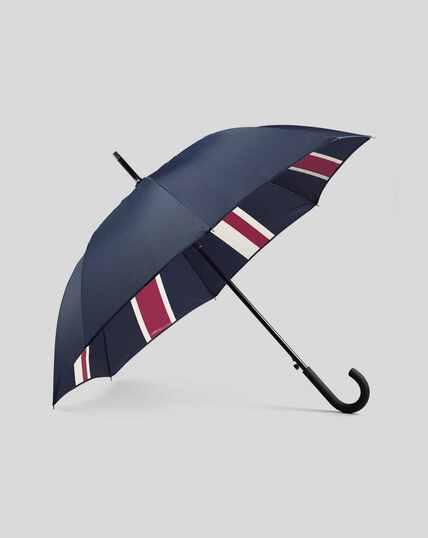 Klassischer Regenschirm mit Union-Jack-Design - Marineblau & Rot