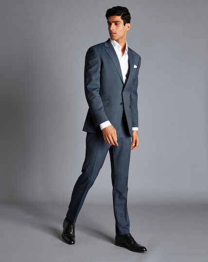 Birdseye Travel Suit - Light Blue