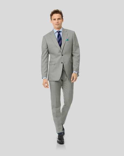 Sharkskin Travel Suit - Silver