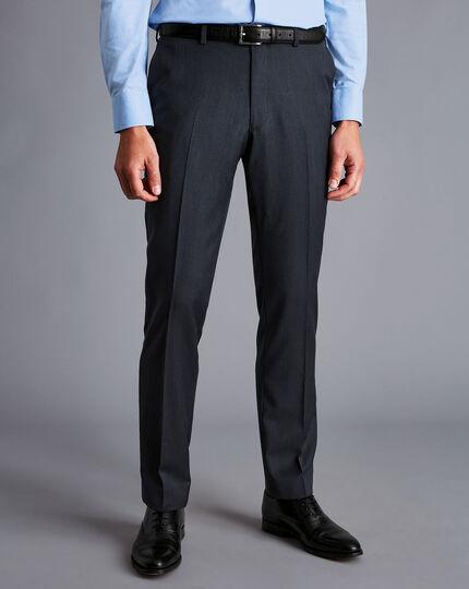 Herringbone Business Suit Trousers - Dark Airforce Blue