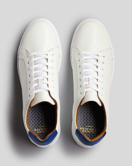 Leather Sneakers - White
