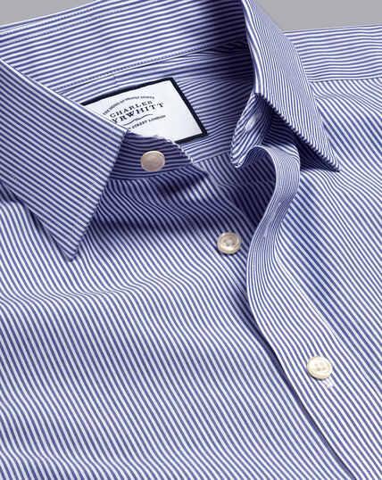 Non-Iron Bengal Stripe Shirt - Royal Blue