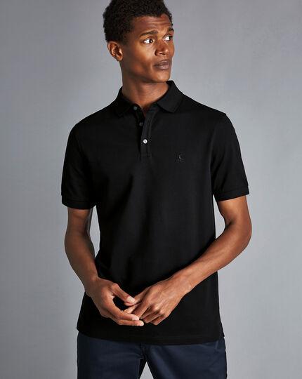 Tyrwhitt Pique Polo - Black