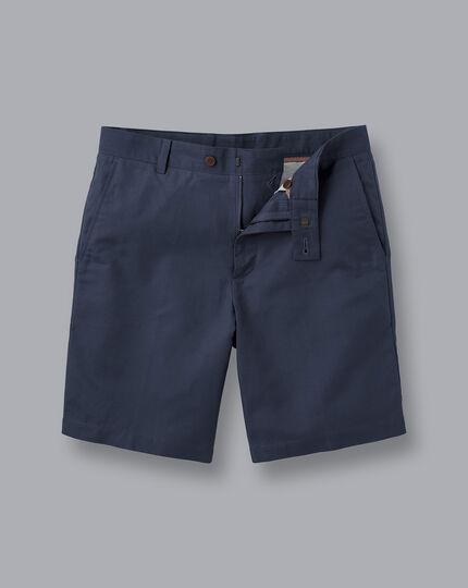 Cotton Linen Shorts - Navy