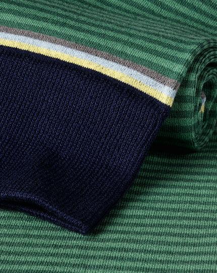 Fine Stripe Socks - Green & Navy