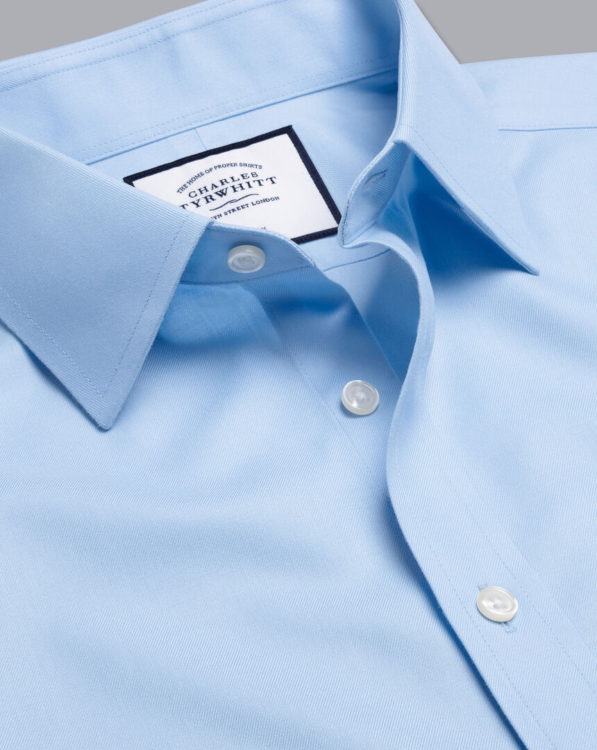 Non-Iron Twill Shirt - Sky Blue