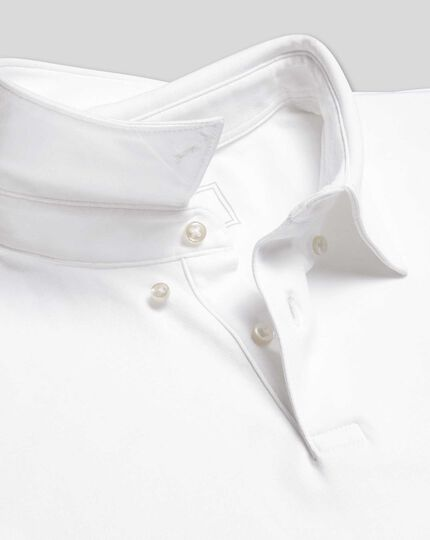Smart Short Sleeve Jersey Polo - White