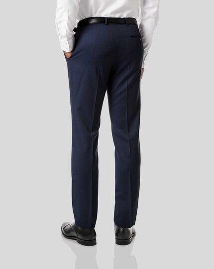 Stripe Birdseye Travel Suit Pants - Navy