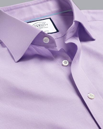 Semi-Cutaway Egyptian Cotton Deco Weave Shirt - Lilac Purple
