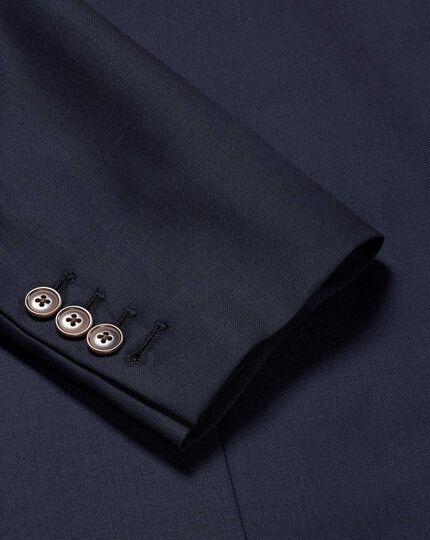 Italian Luxury Twill Suit Jacket - Navy