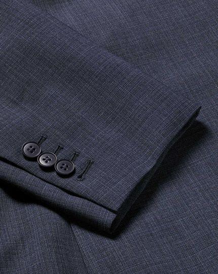 Crosshatch Suit Jacket - Airforce Blue