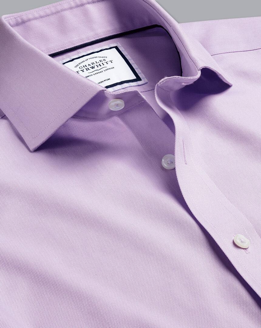 Cutaway Collar Non-Iron Regent Weave Shirt - Lilac Purple