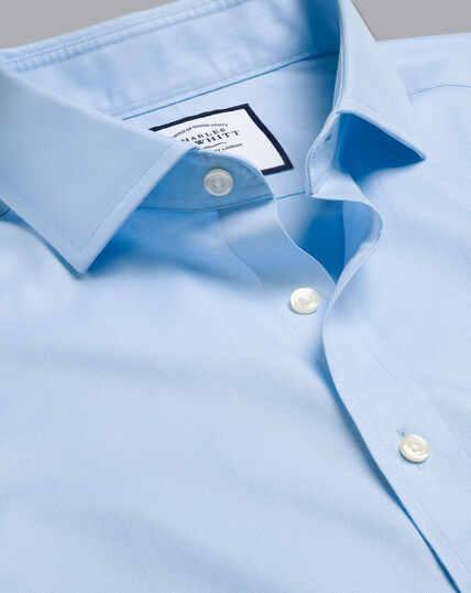 Cutaway Collar Non-Iron Twill Shirt - Sky Blue
