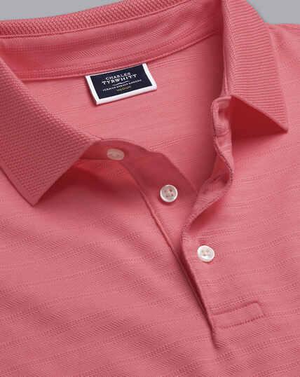 Tyrwhitt Cool Stripe Polo - Pink