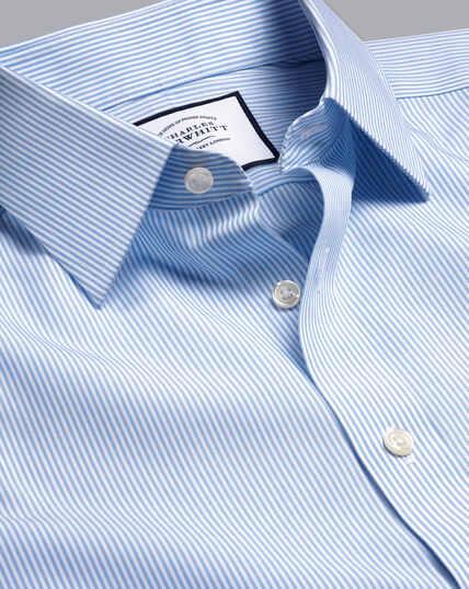 Non-Iron Bengal Stripe Shirt - Sky Blue