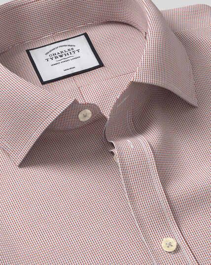 Classic Collar Non-Iron Dobby Shirt - Berry