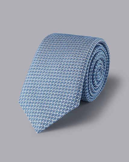 Silk Grenadine Italian Luxury Tie - Light Blue