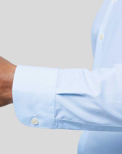 Bügelfreies Hemd mit Business-Casual-Kragen und geometrischem Design - Himmelblau