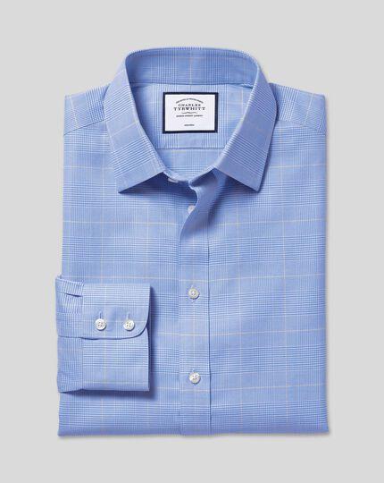 Non-Iron Prince of Wales Check Shirt - Blue & Gold