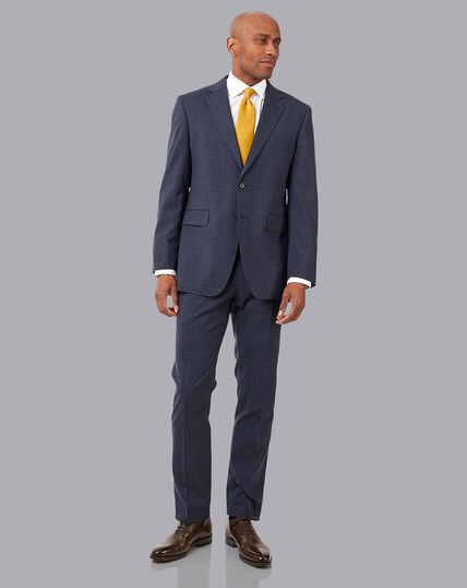 Crosshatch Suit - Airforce Blue